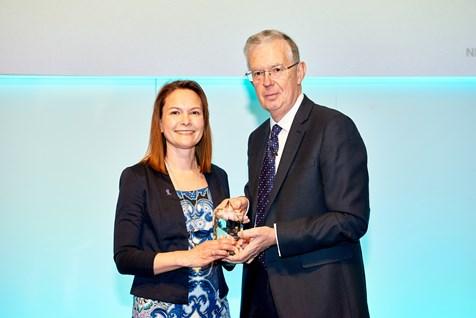 Anna with Sir David Haslam at the NICE Awards